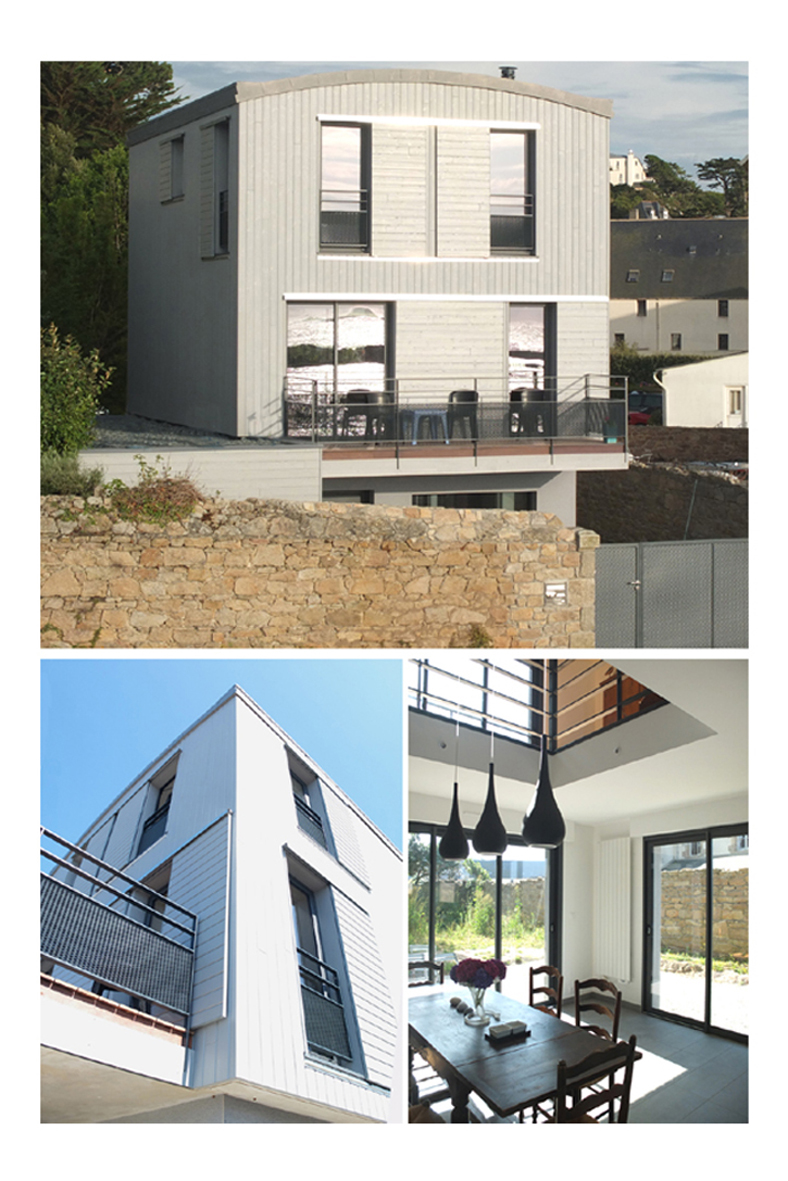 At architecturesconstruction d 39 une maison de 3 niveaux en for Architecte batiment de france
